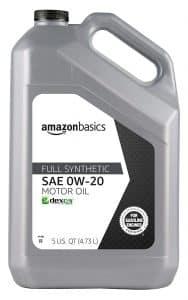 AmazonBasics Full Synthetic Motor Oil - 0W-20 - 5 Quart