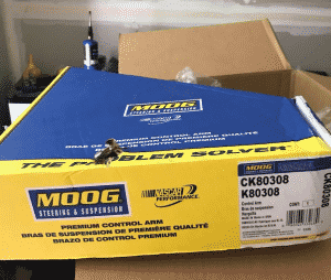 Package of Moog CK80308 Control Arm
