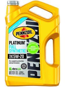 Pennzoil Platinum Full Synthetic Motor Oil SN 5W 20 5 Quart