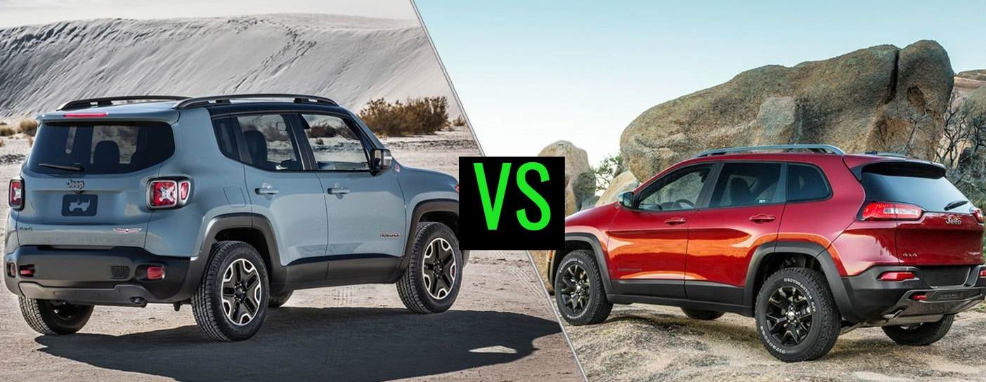 2015 Jeep Renegade vs 2015 Jeep Cherokee A