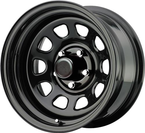 This steel wheel is manufactured by Pro Comp as a tribute to classic OEM designs. It is best used off-road.