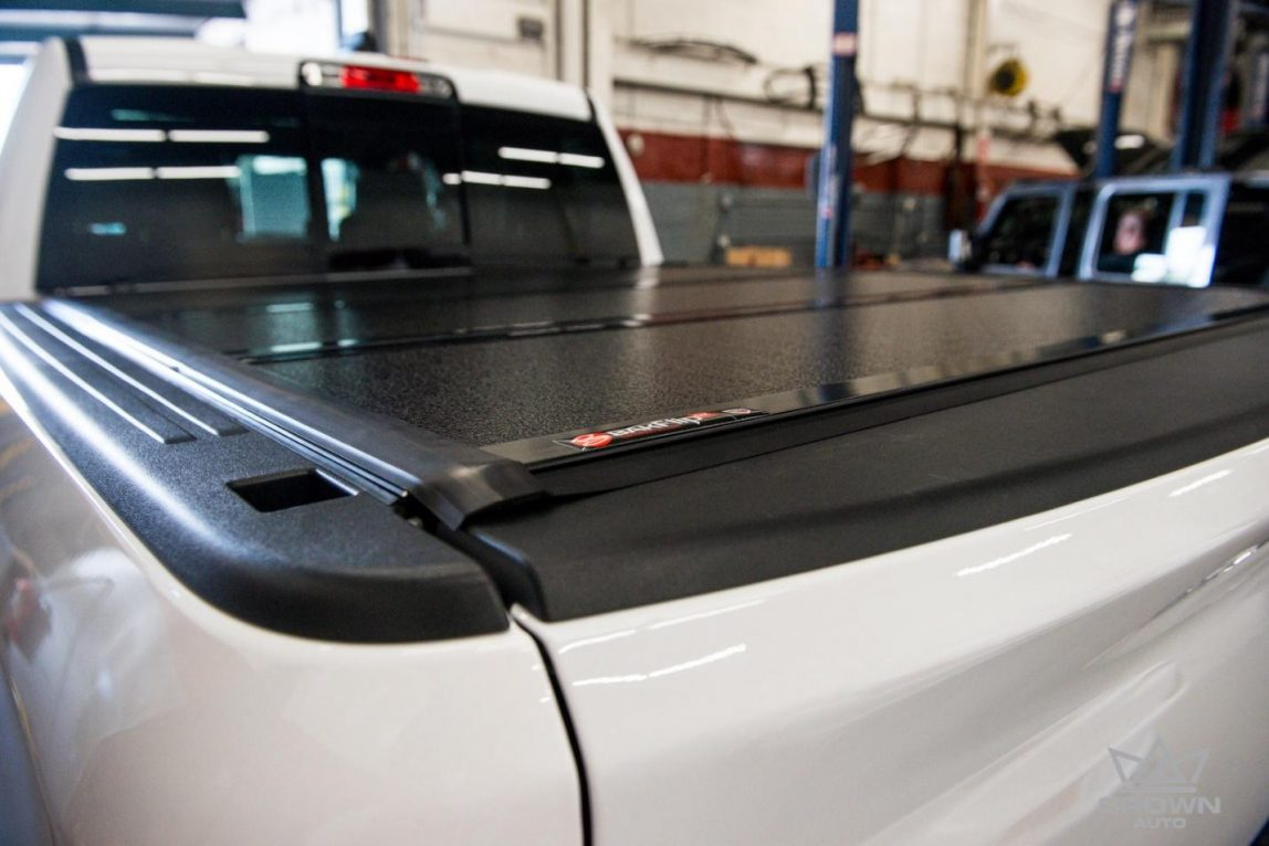 Dodge Ram 1500 bed cover back side view