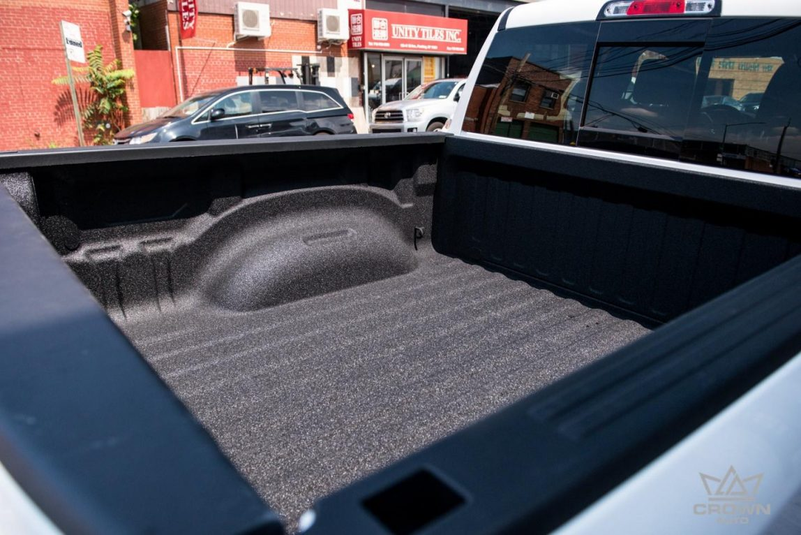 Fully opened bed cover of Dodge Ram 1500