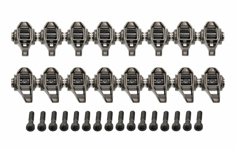 Michigan Motorsports LS1 Rocker Arms and Bolts with Trunion Kit Installed